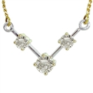 Image for Classic Round Diamond Trilogy Necklace