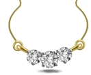 Image for Elegant Round Diamond Trilogy Necklace