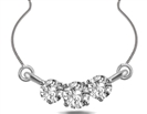 Elegant Round Diamond Trilogy Necklace