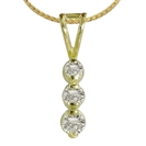 Image for Classic Round Diamond Trilogy Pendant
