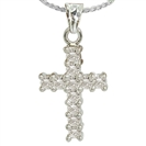 Image for Classic Round Diamond Cross Pendant