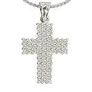 Image for Unique Round Diamond Cross Pendant