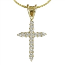 Image for Traditional Round Diamond Cross Pendant