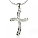 Image for Stylish Round Diamond Cross Pendant
