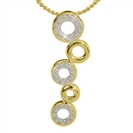 Image for Five Circle Round Diamond Drop Pendant