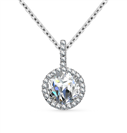 Image for Round Diamond Single Halo Pendant