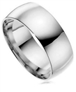Image for 8mm Court Shape Wedding Ring
