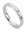 Image for 3mm Court Milgrain Wedding Ring