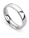 Image for 5mm Court Milgrain Wedding Ring