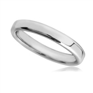4mm Rounded Flat Court Wedding Ring