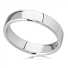 Image for 5mm Rounded Flat Court Wedding Ring