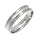 Image for 5mm Flat Court Satin Finish Wedding Ring