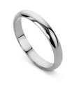 3mm D Shape Wedding Ring
