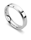 Image for 4mm Bevelled Court Wedding Ring