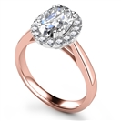 Image for Oval Diamond Single Halo Ring