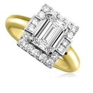 Image for Emerald Diamond Designer Ring