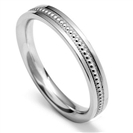 2.5mm Vintage Court Shape Wedding Ring