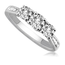Image for Round 3 Stone Diamond Ring with Shoulder Diamonds