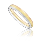 Image for 3mm Tri Tone Court Shape Wedding Ring