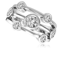 Round Diamond Dress Ring