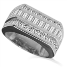 2.00CT VS/EF Round Diamond Mens Ring