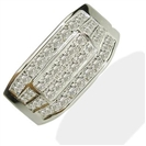 1.00CT VS/F Round Diamond Mens Ring