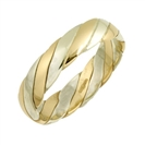 Image for 4mm Two Tone Twisted Wedding Ring