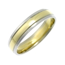 Image for 5mm Court Shape Two Tone Wedding Ring