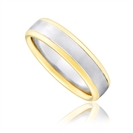 Image for 5mm Two Tone Court Shape Wedding Ring
