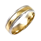 Image for 6mm Court Shape Two Tone Wedding Ring