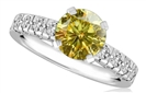 Image for Fancy Yellow Round Diamond Shoulder Set Ring