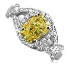 Image for Fancy Yellow Cushion Diamond Halo Designer Ring