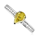 Image for Fancy Yellow Pear Diamond Shoulder Set Ring