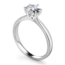 1.00CT SI2/H Round Diamond Solitaire Ring