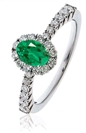 Image for Emerald & Diamond Engagement Ring