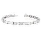 Image for Unique Round/Baguette Diamond Tennis Bracelet