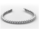 Unique Round Diamond Tennis Bracelet