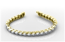 Image for Modern Round Diamond Single Row Bracelet