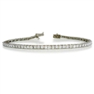 Traditional Single Row Diamond Tennis Bracelet