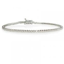 Single Row Round Diamond Tennis Bracelet
