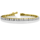 Image for Single Row Princess Diamond Tennis Bracelet
