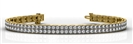 Image for Round Diamond Double Row Tennis Bracelet