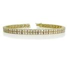 Classic Double Row Round Diamond Tennis Bracelet