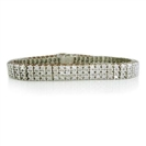 Image for Classic Round Diamond Three Row Tennis Bracelet
