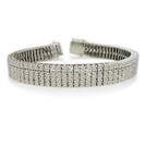 Image for Traditional Round Diamond Four Row Tennis Bracelet