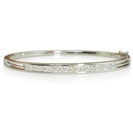 Image for Classic Round Diamond Set Bangle