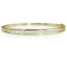 Image for Classic Round/Baguette Diamond Set Bangle