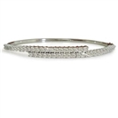Image for Split Designer Round Diamond Set Bangle