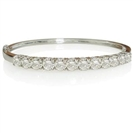 Elegant Round Diamond Set Bangle