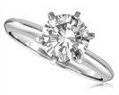 Knife Edge Round Diamond Engagement Ring